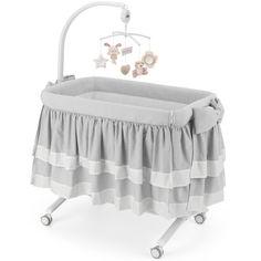 Акция на Приставная колыбель-кроватка Cam Cullami Luxe с постелью, цвет серый (925/926/T151) от Allo UA