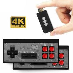 Акция на Игровая приставка Y2 4K HDMI с 568 классическими играми мини ретро консоль 2 беспроводных контроллера от Allo UA