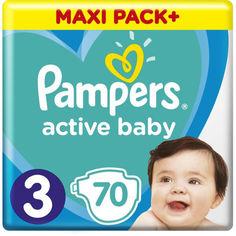 Акция на Подгузники Pampers Active Baby размер 3 (6-10 кг), 70 шт (8001090948656) от Allo UA
