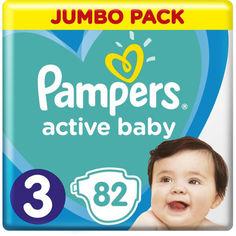 Акция на Подгузники Pampers Active Baby размер 3 6-10 кг, 82 шт (8001090948175) от Allo UA