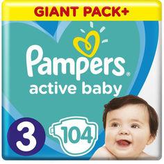 Акция на Подгузники Pampers Active Baby размер 3 (6-10 кг), 104 шт (8001090950215) от Allo UA
