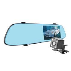 """Акция на Зеркало видеорегистратор 5"""" Car Anytek T22 угол обзора 150° с камерой заднего вида G-сенсор карта памяти от Allo UA"""