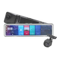 """Акция на Зеркало видеорегистратор 12"""" Lesko Car D60 Full HD 1080p карта памяти 32Gb угол обзора 170 градусов G-sensor от Allo UA"""
