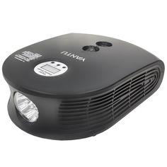 Акция на Автомобильный компрессор YANTU E26 Black с LED экраном и фонариком от Allo UA