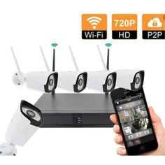 Акция на Комплект видеонаблюдения беспроводной XPRO CORDON Full HD WiFi 4ch от Allo UA