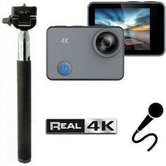 Акция на XPROUNIQ REAL4K GYRO Black с REAL4K съемкой и гироскопом + Монопод от Allo UA