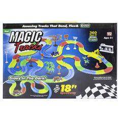 Акция на Гонки Magic Tracks 360 деталей трасса с подсветкой игры для детей гоночный трек конструктор 1 машинка от Allo UA