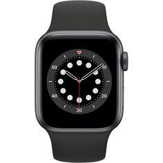 Акция на Apple Watch Series 6 GPS, 40mm Space Gray Aluminium Case with Black Sport Band (MG133) от Allo UA