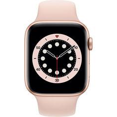 Акция на Apple Watch Series 6 GPS, 44mm Gold Aluminium Case with Pink Sand Sport Band (M00E3) от Allo UA