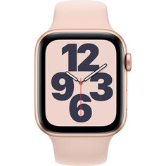 Apple Watch SE GPS, 44mm Gold Aluminium Case with Pink Sand Sport Band (MYDR2) от Allo UA