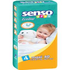 Детские подгузники  Senso Baby Ecoline макси,размер 4, 7-18 кг, 40 шт (4810703000865) от Allo UA