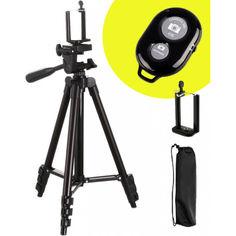 Акция на Штатив TRIPOD 3120А для Телефона Камеры Фотоаппарата с Bluetooth Кнопкой 102 см (2023) от Allo UA