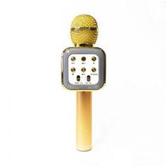 Акция на Беспроводной микрофон караоке WS-1818 Gold от Allo UA