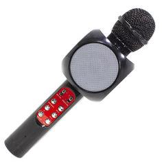 Акция на Беспроводной микрофон караоке блютуз WSTER 1816 Bluetooth динамик USB (55181im5) от Allo UA