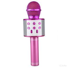 Акция на Беспроводный Bluetooth караоке микрофон с изменением голоса WSTER WS-858 Золотой Original Gold от Allo UA