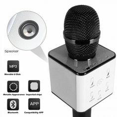 Акция на Беспроводной караоке микрофон Q7 MS Black от Allo UA