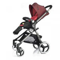 Акция на Универсальная детская коляска Evenflo Vesse Original LC839A-W8BD Красная от Allo UA