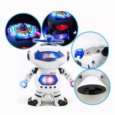 Акция на Танцующий светящийся интерактивный робот танцор Dancing Robot детская игрушка Белый от Allo UA