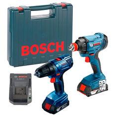 Акция на Аккумуляторный набор Bosch Professional гайковерт GDX 180-LI + шуруповерт GSR 180-LI в кейсе, 2 GBA 18В 2x1.5Ач Li-Ion (06019G5222) от Allo UA