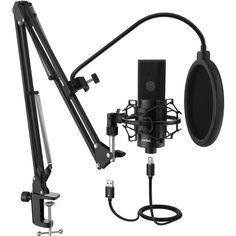 Акция на Cтудийный микрофон FIFINE K780 BLACK со стойкой и поп-фильтром от Allo UA
