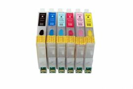 Акция на Перезаправляемые картриджи Epson R220 с чипами от Lucky Print UA