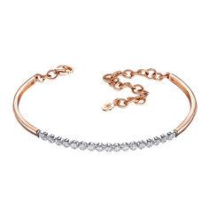 Золотой браслет в комбинированном цвете с бриллиантами 000138668 б/р размера от Zlato