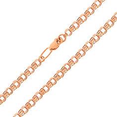 Цепочка из красного золота в плетении бисмарк 000000356 55 размера от Zlato