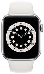 Смарт-часы Apple Watch Series 6 GPS 44mm Silver Aluminium Case with White Sport Band Regular от MOYO