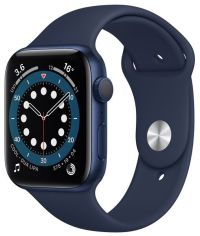 Акция на Смарт-часы Apple Watch Series 6 GPS 44mm Blue Aluminium Case with Deep Navy Sport Band Regular от MOYO