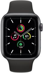 Акция на Смарт-часы Apple Watch SE GPS 44mm Space Gray Aluminium Case with Black Sport Band Regular от MOYO