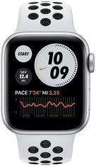Акция на Смарт-часы Apple Watch Nike SE GPS 40mm Silver Aluminium Case with Pure Platinum/Black Nike Sport Band Regular от MOYO