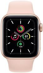 Акция на Смарт-часы Apple Watch SE GPS 40mm Gold Aluminium Case with Pink Sand Sport Band Regular от MOYO
