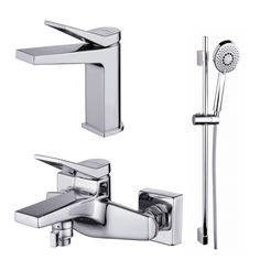 Акция на Набор смесителей для ванны Cersanit CROMO 3 в 1 B247, S601-127 от Allo UA