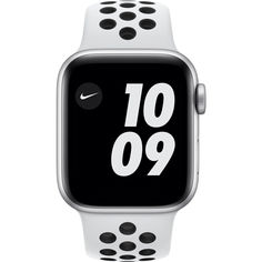 Акция на Apple Watch Nike Series 6 GPS, 40mm Silver Aluminium Case with Pure Platinum/Black Nike Sport Band (M00T3) от Allo UA