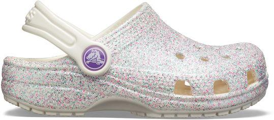Сабо Crocs Classic Glitter Clog 205441-159-C8 24-25 14.9 см Белые (191448274716) от Rozetka