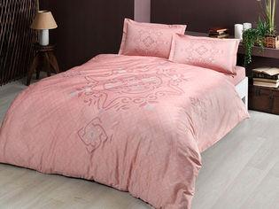 Комплект постельного белья TAC Сатин Bruna V01 pembe 200x220 см (TAC60229071) от Rozetka