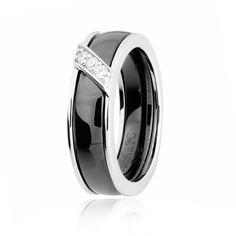 Акция на Серебряное кольцо керамическое GS КК2ФК/1002 - 16,5 от Allo UA