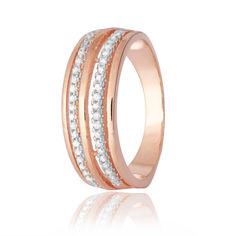 Акция на Серебряное кольцо GS позолоченное с фианитом КК3Ф/217 - 17,4 от Allo UA