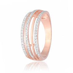 Акция на Серебряное кольцо GS позолоченное с фианитом КК3Ф/216 - 16,8 от Allo UA