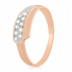 Акция на Серебряное кольцо позолоченное с фианитом К3Ф/019 - 18 от Allo UA