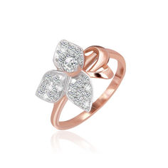 Акция на Серебряное кольцо позолоченное с фианитом КК3Ф/026 - 19 от Allo UA