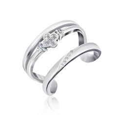Серебряное кольцо с фианитом К2Ф/А721 - 18 от Allo UA