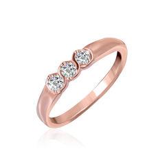 Акция на Серебряное кольцо позолоченное с фианитом КК3Ф/015 - 17 от Allo UA