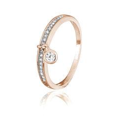 Акция на Серебряное кольцо позолоченное с фианитом К3Ф/265 - 17 от Allo UA