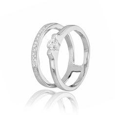 Акция на Серебряное кольцо с фианитом GS К2Ф/249 - 15,9 от Allo UA