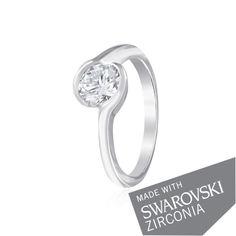 Акция на Серебряное кольцо GS с цирконием SWAROVSKI ZIRCONIA К2С/701 - 15,9 от Allo UA
