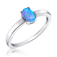 Серебрянное кольцо родированное - КК2ОпГ/1183-16 от Allo UA