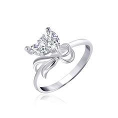 Акция на Серебряное кольцо с фианитом КК2Ф/001 - 18 от Allo UA