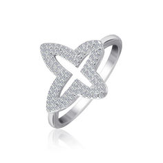 Акция на Серебрянное кольцо родированное - КК2Ф/1009-17,5 от Allo UA