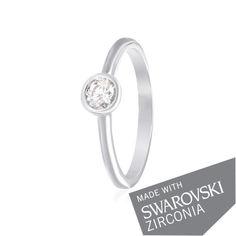 Акция на Серебряное кольцо с цирконием SWAROVSKI ZIRCONIA К2С/456 - 17 от Allo UA